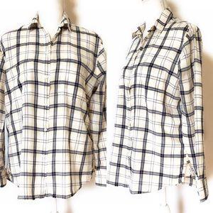 Made well plaid button down shirt, Sz Xs, Blue
